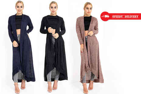 Verso Fashion - Maxi towel feel cardigan - Save 60%