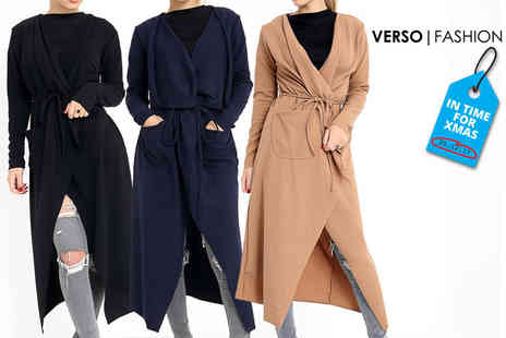 Verso Fashion - Womens long sleeve waterfall jacket choose from three colours - Save 63%