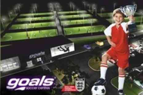 Goals Soccer Centres - Childrens Football Party For Ten With Food and Drinks - Save 63%