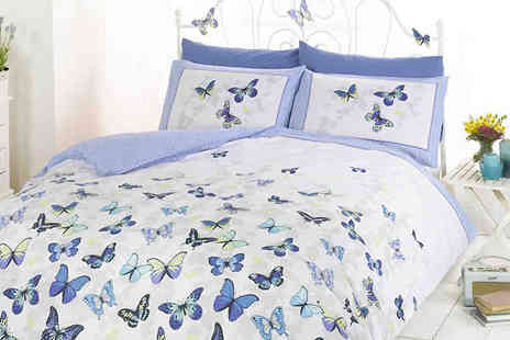 StyleMyBedroom - Reversible Flutter Single Duvet Set Available in 4 Colours - Save 0%