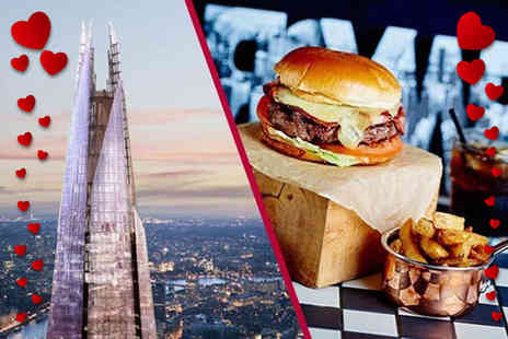 Buyagift - Entrance for two to The View from the Shard plus three course dining and glass of Prosecco - Save 0%