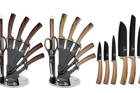Groupon Goods Global GmbH - Berlinger Haus Six or Eight Piece Forest Line Knife Set - Save 0%