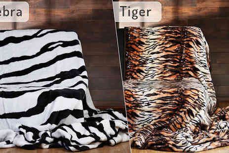 Fusion - Animal Print Mink Throws Available in Two Designs - Save 86%