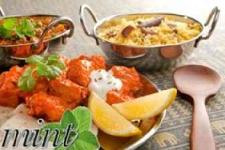 Mint Indian Restaurant - Two Course Indian Meal For Two With Rice and Wine - Save 55%