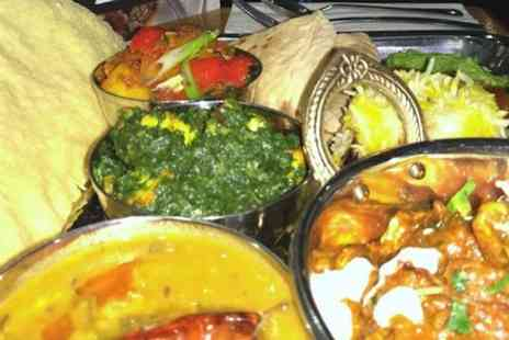 Tiffins & Thalis - Indian Thali Lunch and Wine for Two or Four - Save 61%