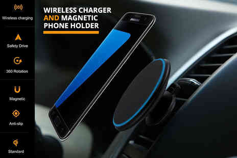 Snap Gadget - Magnetic wireless car charger - Save 68%