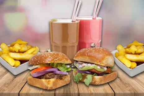 The Good Burger Kitchen - Burger, Fries and Milkshake for Two or Four - Save 55%