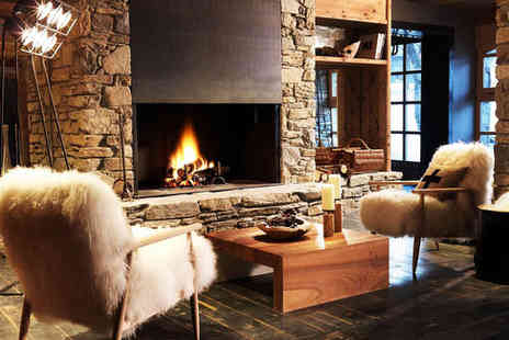Hotel Le M De Megeve - Five Star Luxury Chalet Inspired Spa Hotel Stay - Save 48%