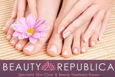Beauty Republica - Manicure and Pedicure - Save 58%