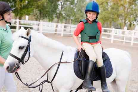 Croft Riding Centre - Group Horse Riding Lesson for One or Two Children or One or Two Adults - Save 54%