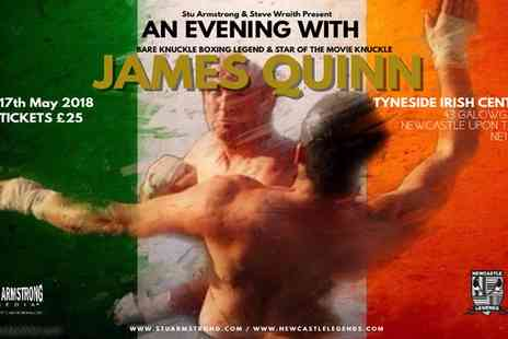 Newcastle Legends - Ticket to An Evening with James Quinn on 17 May - Save 40%