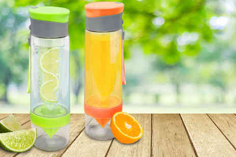 Ckent - Tritan fruit infusing bottle available in seven colours - Save 56%