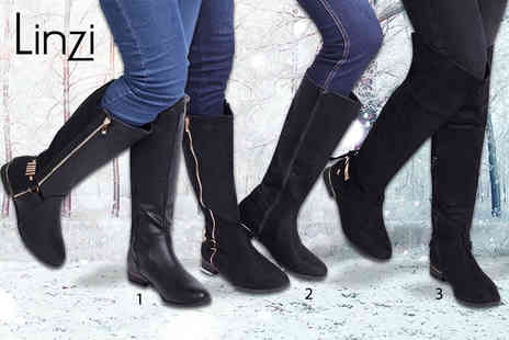 Linzi - Pair of long winter boots choose from three styles - Save 57%