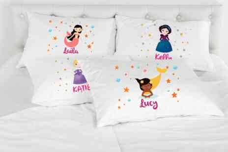 Shop Sharks - Personalised princess or mermaid pillowcase - Save 71%