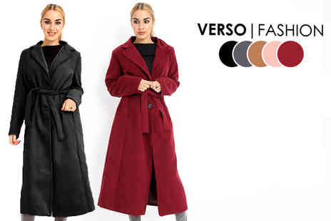 Verso Fashion - Long belted trench coat - Save 64%