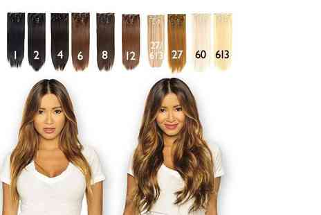 Shop Chainz - Seven piece 22 inch clip in hair extensions set choose from 15 colours - Save 90%