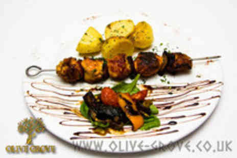 The Olive Grove - Greek banquet for 2 including 11 dishes to share and a dessert - Save 54%