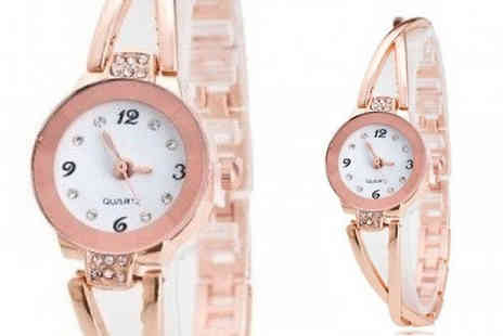 Romatco - Criss Cross Rose Gold Tone Watch - Save 77%