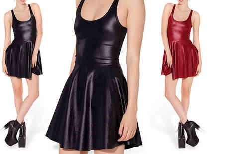 Trifolium Lingerie - Faux leather skater dress choose from two colours - Save 60%
