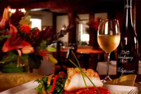 Amici Italian Restaurant - Romantic Two Course Italian Meal with Wine for One or Two - Save 49%