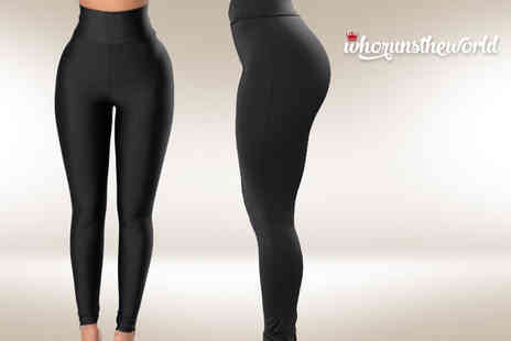 who runs the world - High waisted power hold leggings - Save 63%
