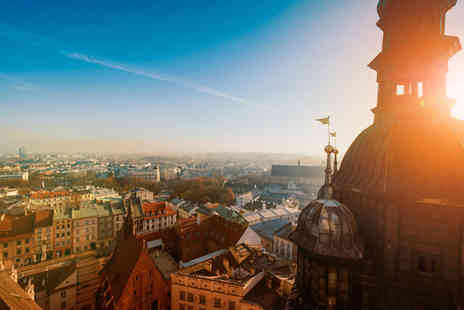Crystal Travel - Four Star two nights  Krakow spa stay with breakfast, flights and Auschwitz tour option - Save 39%