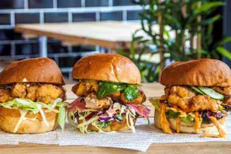 The Bok Shop - Choice of Chicken Burger with Chips and Beer for Two or Four - Save 47%