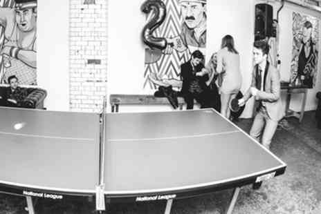 Twenty Twenty Two - 30 Minute Ping Pong Game and Cocktail for Two - Save 33%
