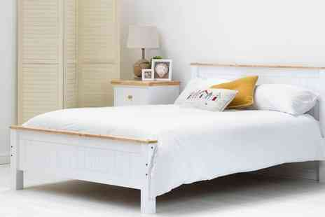 Groupon Goods Global GmbH - Tatton Wooden Bed Frame with Optional Mattress With Free Delivery - Save 60%