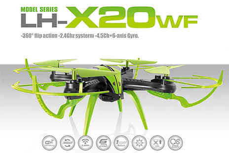 Toys Wizard - lh x20wf remote control quadcopter drone choose from three colours - Save 65%