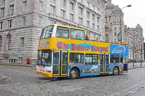 City Explorer - Full day hop on, hop off bus tour of Liverpool - Save 55%