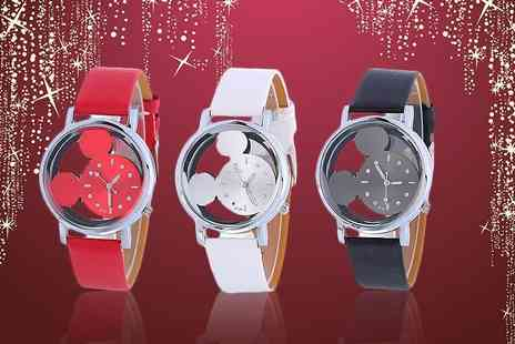 Solo Act - Disney inspired mouse watch choose from three colours - Save 70%
