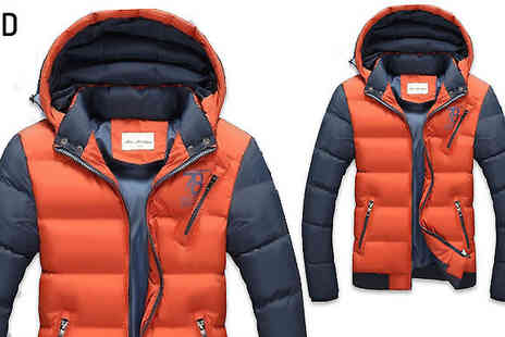 HXT Goods - Mens Hooded Puffer Jacket Available in Six Colours - Save 81%