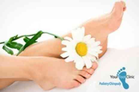 Your Foot Clinic - Laser Nail Care Session For Three Toes - Save 64%