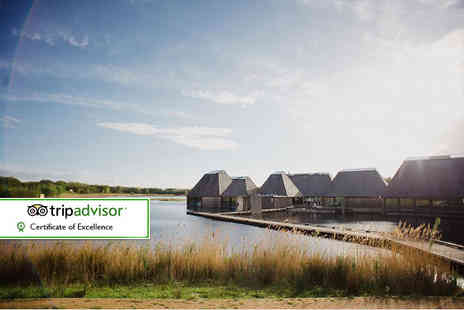 Brockholes Nature Reserve - Cake on the Lake luxury afternoon tea for two with glass of Bellini each - Save 37%
