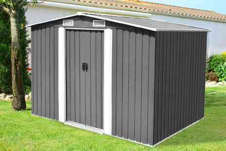 Vida XL - Metal storage shed or £249 for an extra large storage shed - Save 77%