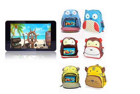 J We Heart Electronics - Childrens 7 inch tablet and animal backpack, with a limited number available - Save 85%
