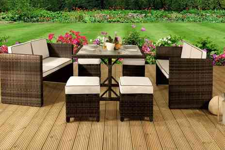 Groupon Goods Global GmbH - Maratea Rattan Effect Sofa Sets in a Choice of Colour with Free Delivery - Save 63%
