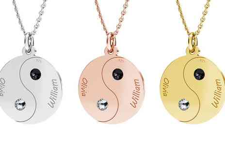 Jewells House - One, Two or Three Yin Yang Necklaces with Engrave With Free Delivery - Save 69%