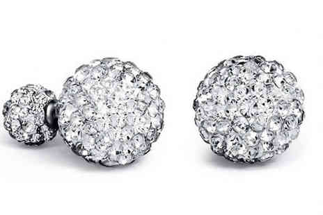 Romatco - Double Sided Swarovski Elements Earrings in 5 Colours - Save 70%