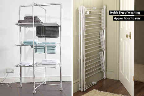 Easylife - Three tier heated tower airer with wheels - Save 51%