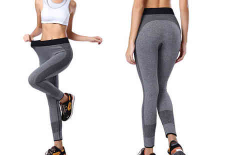 Who Runs the World - Grey workout leggings - Save 80%