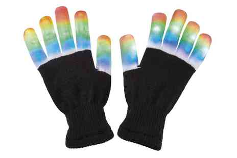 Groupon Goods Global GmbH - One or Two Led Lightup Gloves - Save 73%