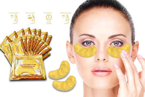 Forever Cosmetics - 20 collagen eye masks - Save 90%