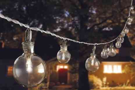 Groupon Goods Global GmbH - Set of 20 Glass Bubble Solar String Lights - Save 67%
