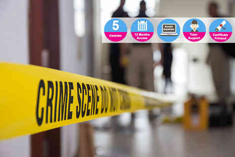 E Careers - Criminology and forensic science course bundle - Save 94%
