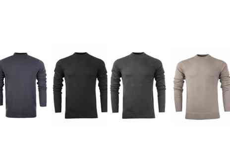 Marsel Holdings - Mens cotton turtle neck jumper choose from four colours - Save 68%