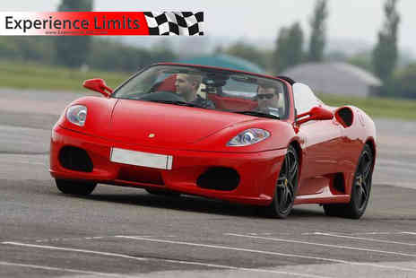 Experience Limits - Weekday or weekend three lap Ferrari driving experience - Save 74%