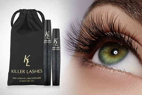 Look Good Feel Fabulous - Mascara and brush on fibre lash extender set - Save 76%