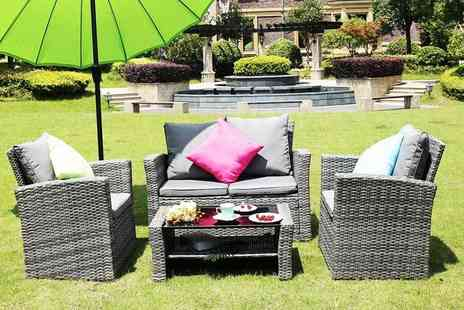 Dreams Outdoors - Four seater rattan garden furniture set, with a limited number available select from three colours - Save 81%